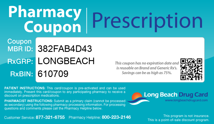 Long Beach Drug Card - Free Prescription Drug Coupon Card